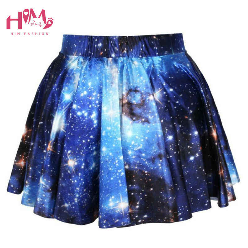1624ab7b9a45a J-fashion Harajuku Starry Universe Gradient Color Skirt Soft Sister Cute  Galaxy Skirt Girls Fashion Hot Selling Clothes Female
