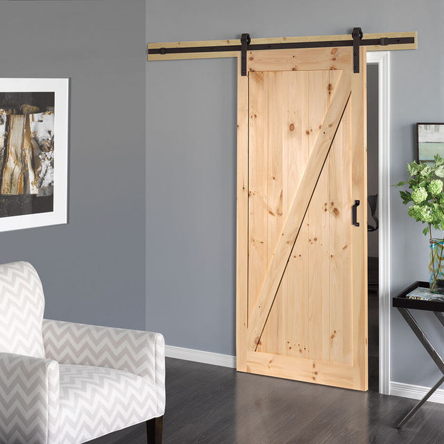 trendy ft amricain intrieur en bois coulissante grange de porte placard galet kit with kit porte. Black Bedroom Furniture Sets. Home Design Ideas