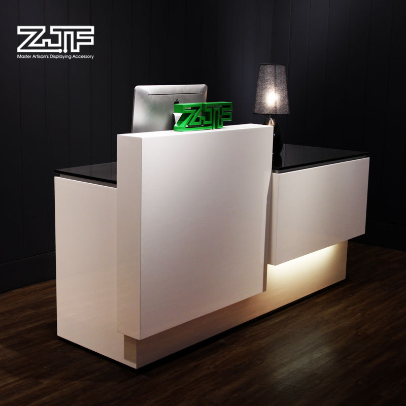 Marvelous Unique Modern Design Wood Veneer Baking Paint Shopping Mall Hotel Reception Counter  Table On Aliexpress.com | Alibaba Group