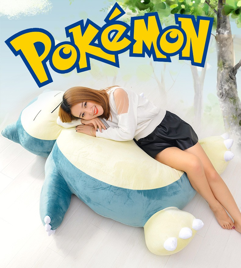 huge Movies TV Pokemon Snorlax skin big kabi toy without fillings gift about 150cm t00099
