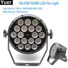 цены Good Quality LED Flat Par 18x12W RGBW DMX Led Par Lighting Disco DJ Par RGBW 4IN1 DMX LED Flat Par Light LED Lamp