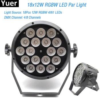 Good Quality LED Flat Par 18x12W RGBW DMX Led Par Lighting Disco DJ Par RGBW 4IN1 DMX LED Flat Par Light LED Lamp
