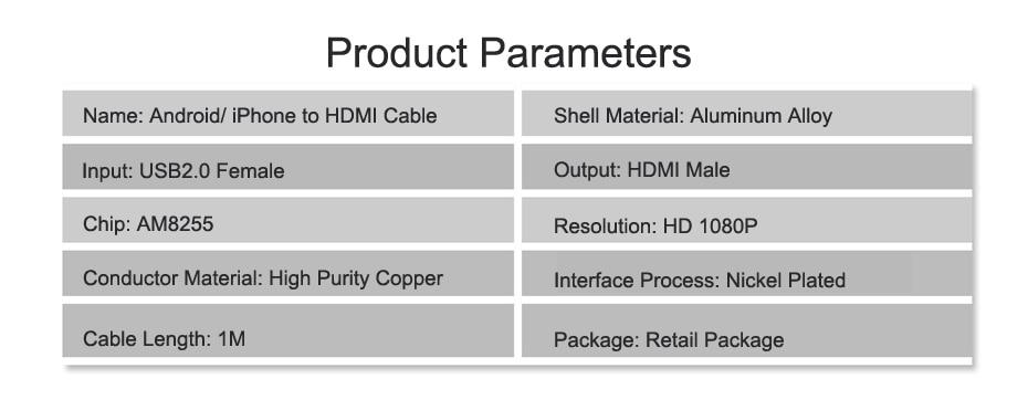 USB HDMI Converter Cable HDMI 13