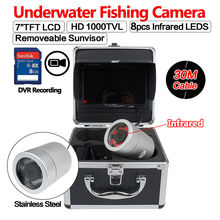 BOBLOV 7″LCD 1000TVL 30M/98ft IR Underwater DVR Camcorders Sea/Boat Fish Finder