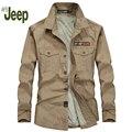 AFS JEEP shirt 2016 new masculino longo-sleeved grossas de inverno camisa tamanho grande camisa jovem moda casual confortável 3 cores 92
