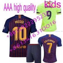 new 2018 2019 barcelonaes kids soccer jerseys camisetas shirt survetement man football shirt. free s