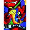 Picasso Music World DIY Digital Painting By Numbers Kits Acrylic Color Drawing By Numbers For Living