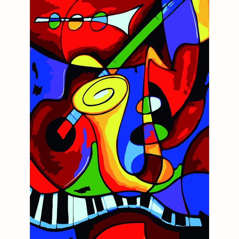 Picasso música mundo DIY pintura digital por números kits