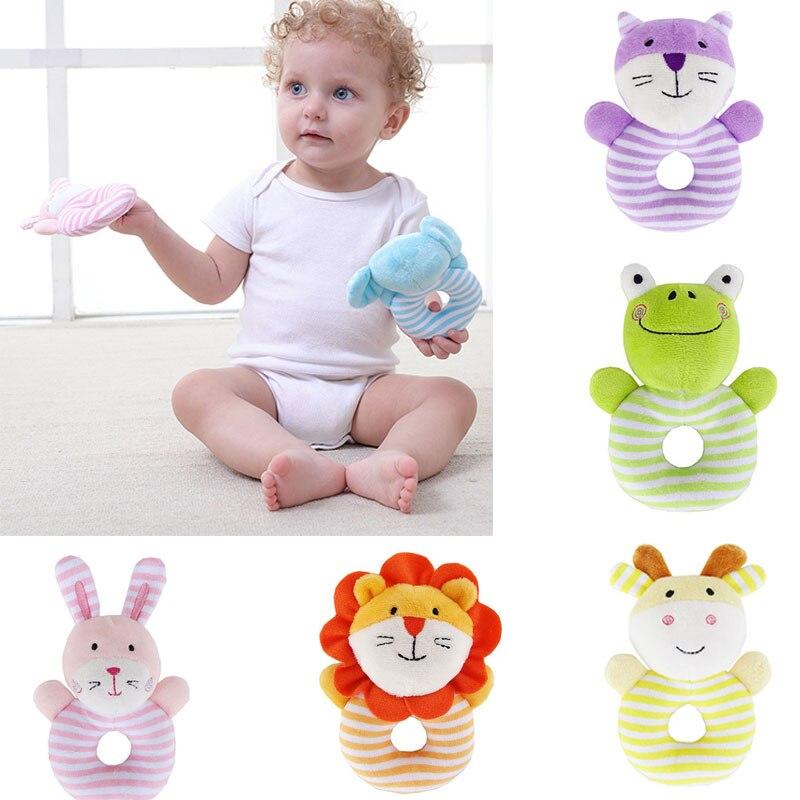 Jjovce لينة الطفل حشرجة لعب الحيوانات - لعب للأطفال الرضع