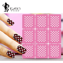 Beautome Reusable Hollow Temping Nail Art For UV Gel Nail Polish Stamping Beauty Manicure Guide Creative Decal HS144