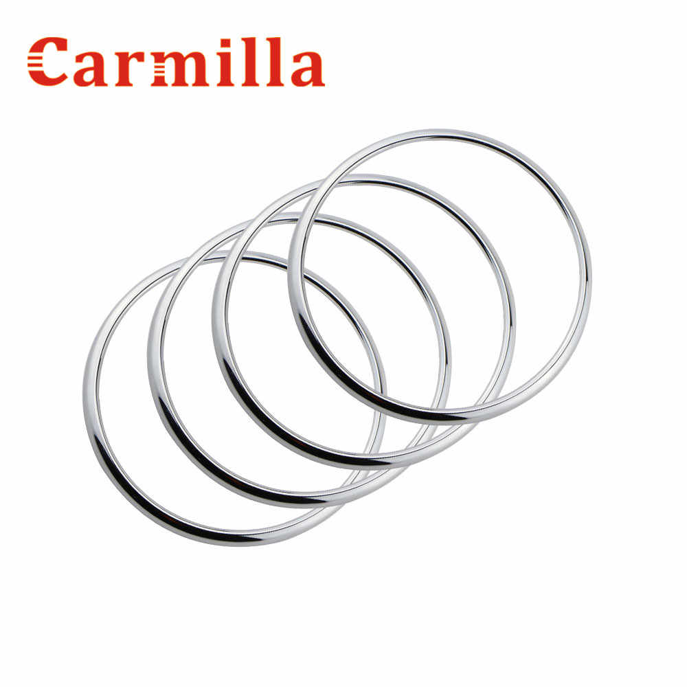 Carmilla Abs クロームスピーカーリングホーンリング音装飾サークルについてはシボレーシボレークルーズ 2009-2016 アクセサリー 4 ピース/セット