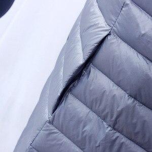 Image 3 - NewBang Chaqueta de plumón para mujer, chaqueta de plumón larga, ligera, cálida, delgada, portátil, abrigo de una botonadura