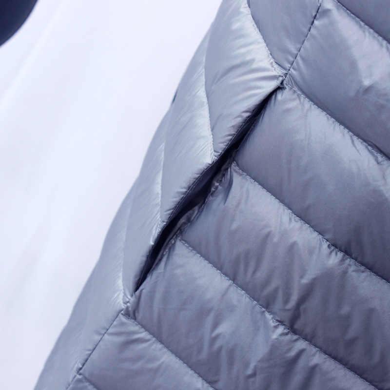 NewBang бренд пуховик женский длинный пуховик женский легкий теплый Linner тонкий портативный однобортный пальто