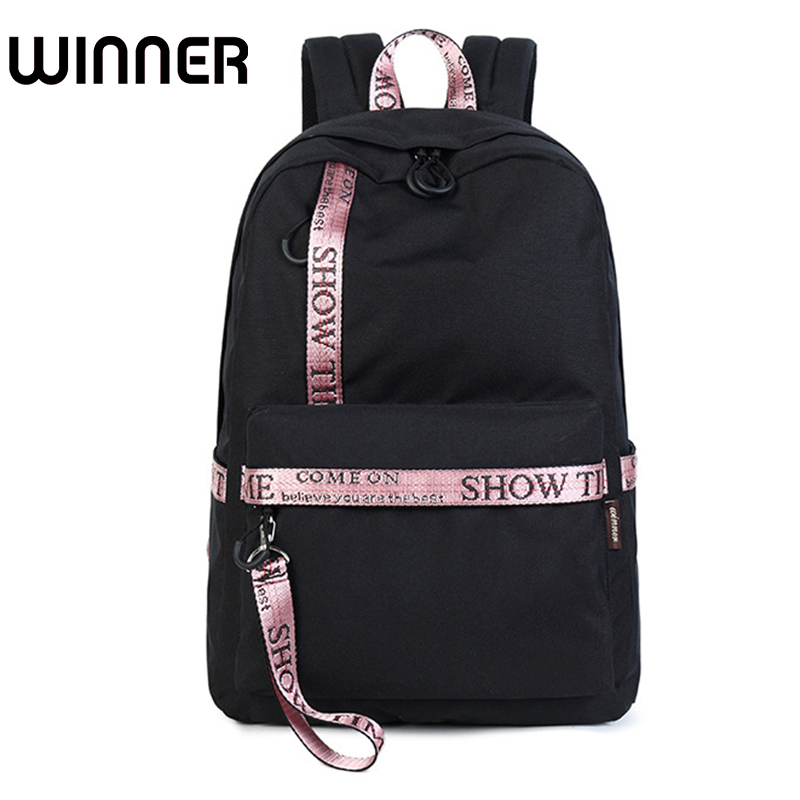Waterproof Casual Daily Travel Backpack Women Letter Printing Backpacks Lovers School Bag For College Girls Laptop Daypack
