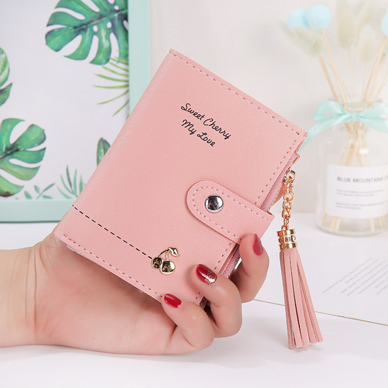 2019 Tassel Women Wallet Small Wallet Women Short Leather Women Wallets Zipper Purses Portefeuille Female Purse Clutch Carteras