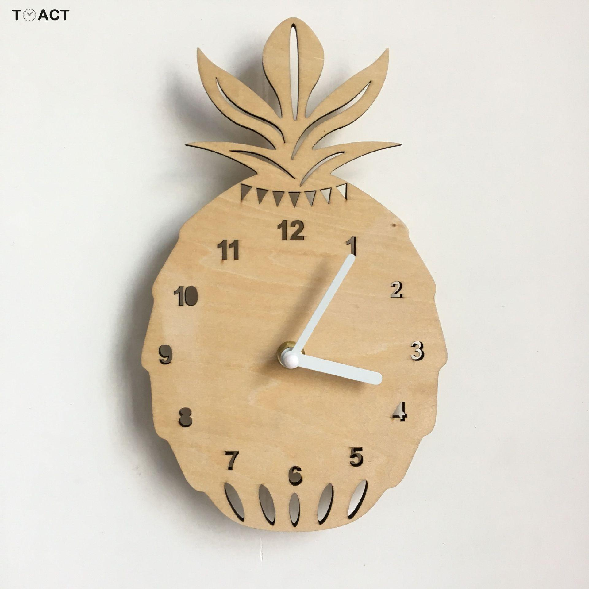 Nordic Clock Children's Room Wall Clocks Wooden Silent Kid's Watches Accessories Wall Watch For Kid Home Decor Quartz
