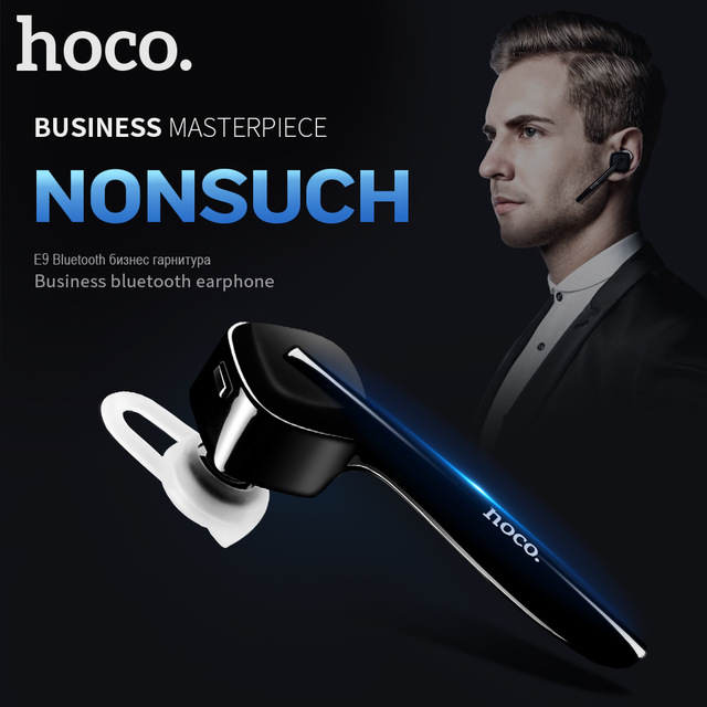 HOCO E9 Business Wireless bluetooth V4.1 earphone Sports handsfree headset with Microphone for iphone xiaomi  Huawei Samsung high quality 2016 universal wireless bluetooth headset handsfree earphone for iphone samsung jun22