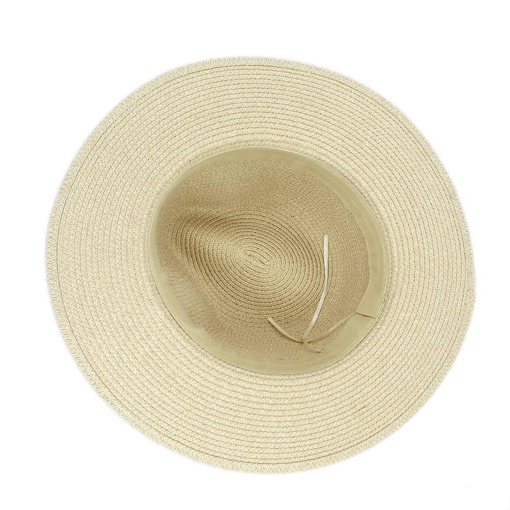 f2fac7144c5 Fashion Women Summer Straw Maison Michel Sun Hat For Elegant Lady Outdoor  Wide Brim Beach Dad hat Sunhat Panama Fedora Hat-in Sun Hats from Apparel  ...
