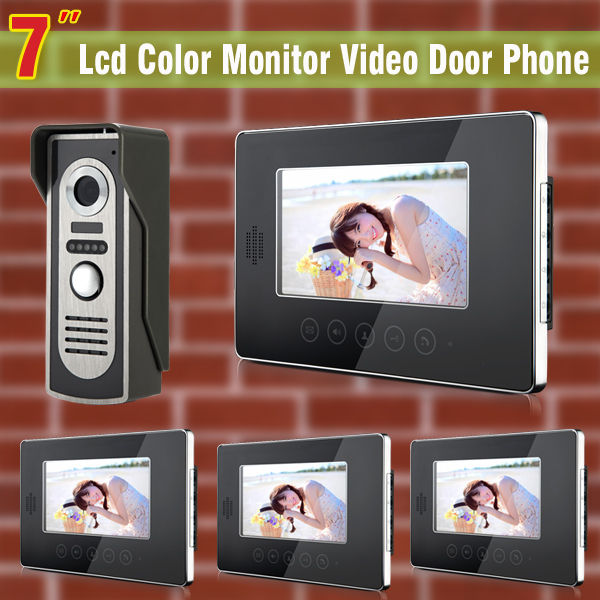 7 inch monitor video door phone intercom doorbell Kits Video DoorBell DoorPhone Intercom System Night vision Camera buy video monitor