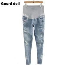 Gourd doll De Maternité grossesse jeans salopette pantalon pour les femmes enceintes taille Élastique jeans enceintes grossesse salopette vêtements