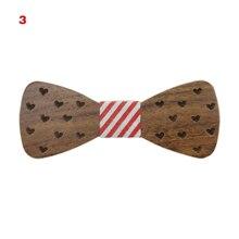 Горячие Дети Деревянный лук галстук резьба звезды бабочка деревянная бабочка свадебные аксессуары HD88