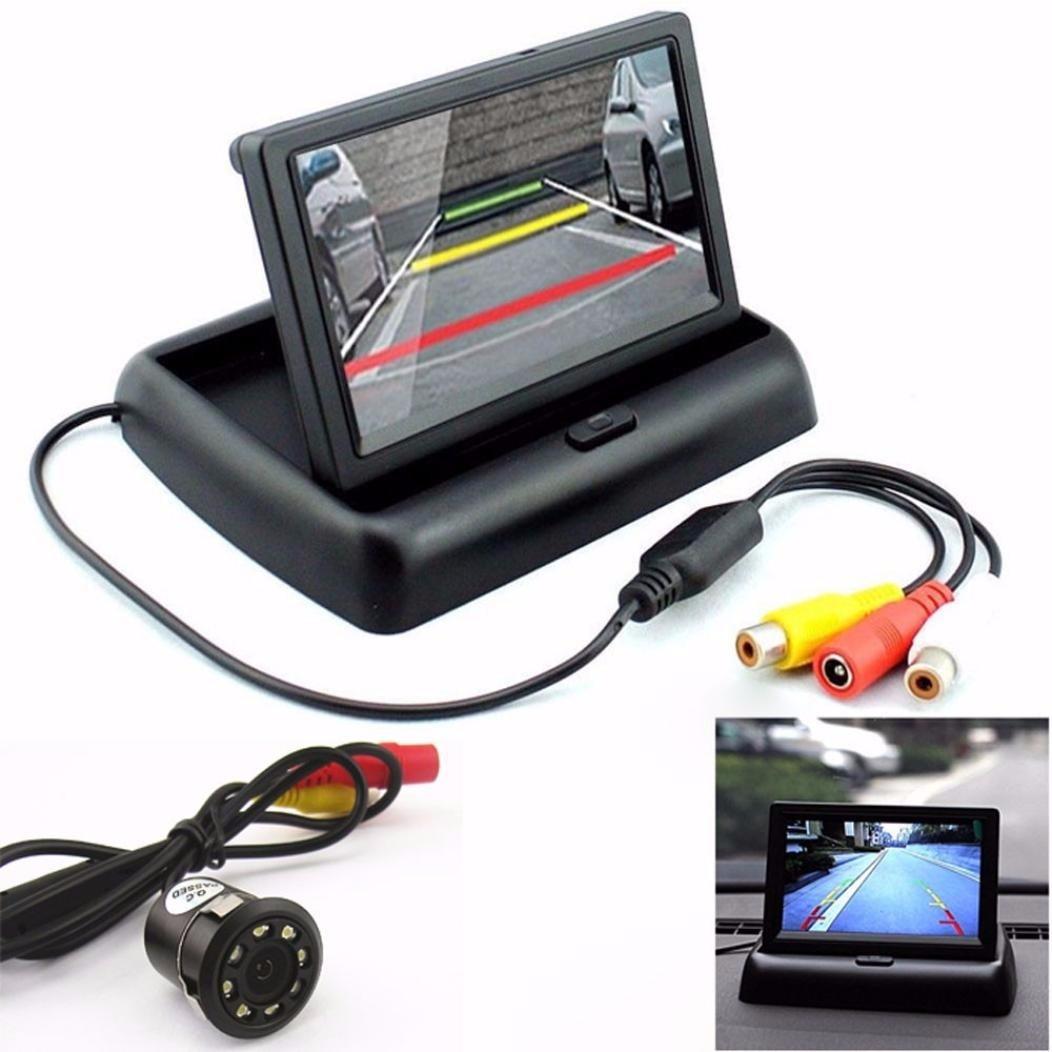 Monitor For Rear View Camera Car Rear View 170° 8LED Night Vision Camera & 4.3'