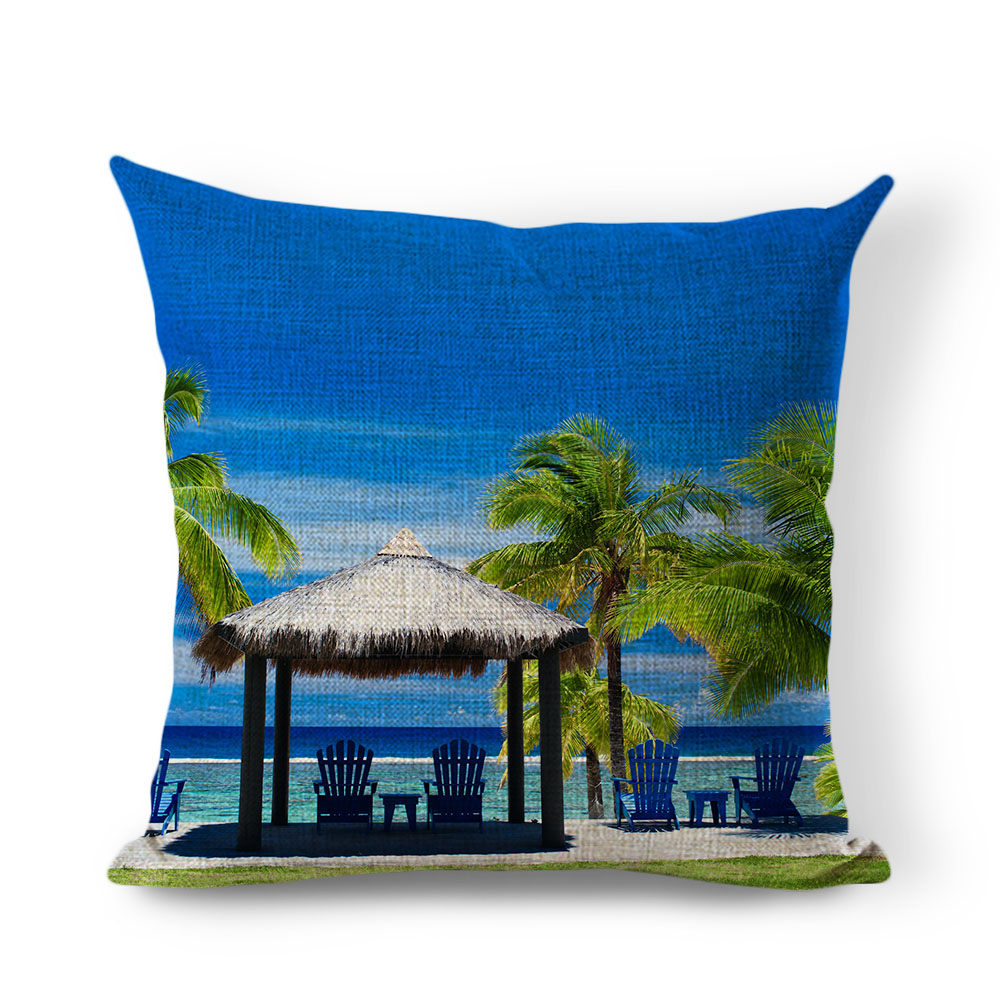 compare prices on unique throw pillows online shoppingbuy low  - sofa cushion natural scenic throw pillow cushion unique printed homedecoration almofadas landscape canvas cotton pillow
