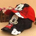 Nueva Moda Precioso de Primavera y Verano Nuevas Muchachas de Los Muchachos Niños Mickey Minnie Casquillo de Hip-Hop de Béisbol Ajustable Sombreros Sombrero para el Sol Alcanzó Su Punto Máximo tapas
