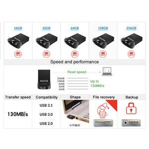 Image 2 - USB флеш накопитель SanDisk Fit, 64 ГБ CZ430 16 ГБ, мини USB флеш накопитель 3,1 до 130 Мб/с, флешка, Высокоскоростной USB 3,0 USB Флешка 32 Гб 128 ГБ