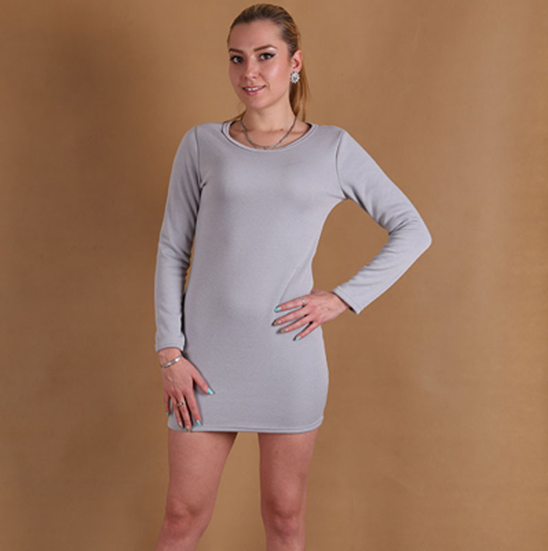 69e4c9dae9ed Stile casual plus size s 3xl donne abiti invernali a maniche lunghe abito  invernale pile tenere al caldo o collo di colore soild vestito d231 in Stile  ...