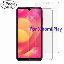 2 Pack Tempered Glass For Xiaomi Mi Play Screen Protector for Pay Film Protective