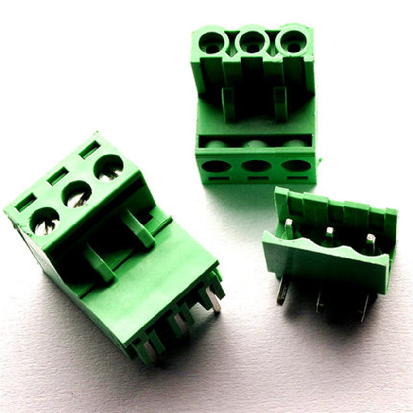 10 sets 5.08 3pin Right angle Terminal plug type 300V 10A 5.08mm pitch connector pcb screw terminal block Free shipping 10sets terminal plug type ht5 08 5 08mm pitch connector pcb screw terminal blocks connector right angle 2 3 4 5 6 7 8p green 10a