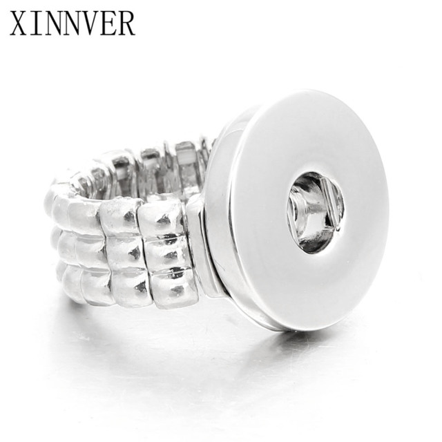 Hot sale High Quality DIY Metal Adjustable ring Fit 18mm Metal Snap Buttons Wome