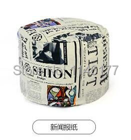 Ywxuege lazy fabric sofa stool stool changing his shoes Home Office circular seating stool washable canvas newspaper