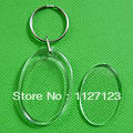 Free shipping!!!!100pcs3.3*4.9cm Blank key Chain wholesale/ Oval 2.7*4cm inside diameter Photo frame key chain