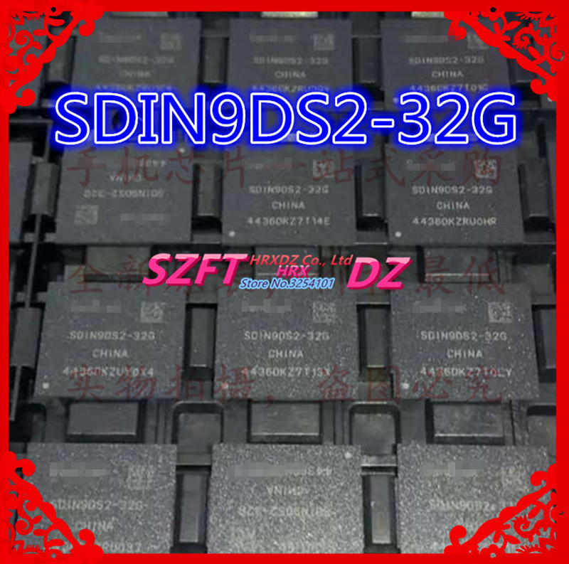 SZFTHRXDZ 100% nouveau SDIN9DS2-32G dorigine EMMC 32G BGASZFTHRXDZ 100% nouveau SDIN9DS2-32G dorigine EMMC 32G BGA