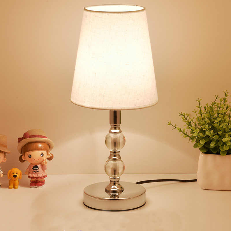 Crystal Table Lamps LED Bedside Lamp Nordic Desk Lamp Bedroom Living Room Lights Study Book Light Vanity Table Light E27 EU Plug