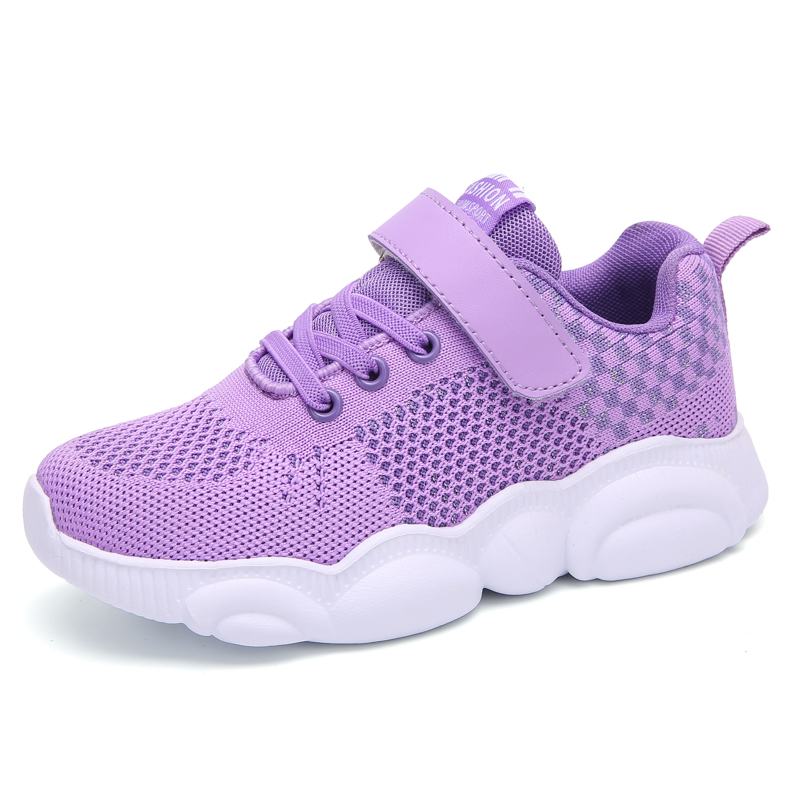 ULKNN Girls Shoes 4 Little Casual Shoe For Kids 5 Children's 6 Pink 7 Net Red 8 Tide Shoes 9 Spring And Autumn Purple Sneakers