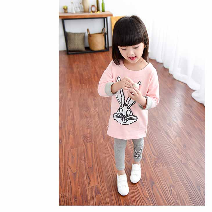 baby girl kids clothes cute cartoon children girls clothing sets fashion pink gray bodysuit cotton 2-7 yrs 2016 summer new set fashion kids baby girl dress clothes grey sweater top with dresses costume cotton children clothing girls set 2 pcs 2 7 years
