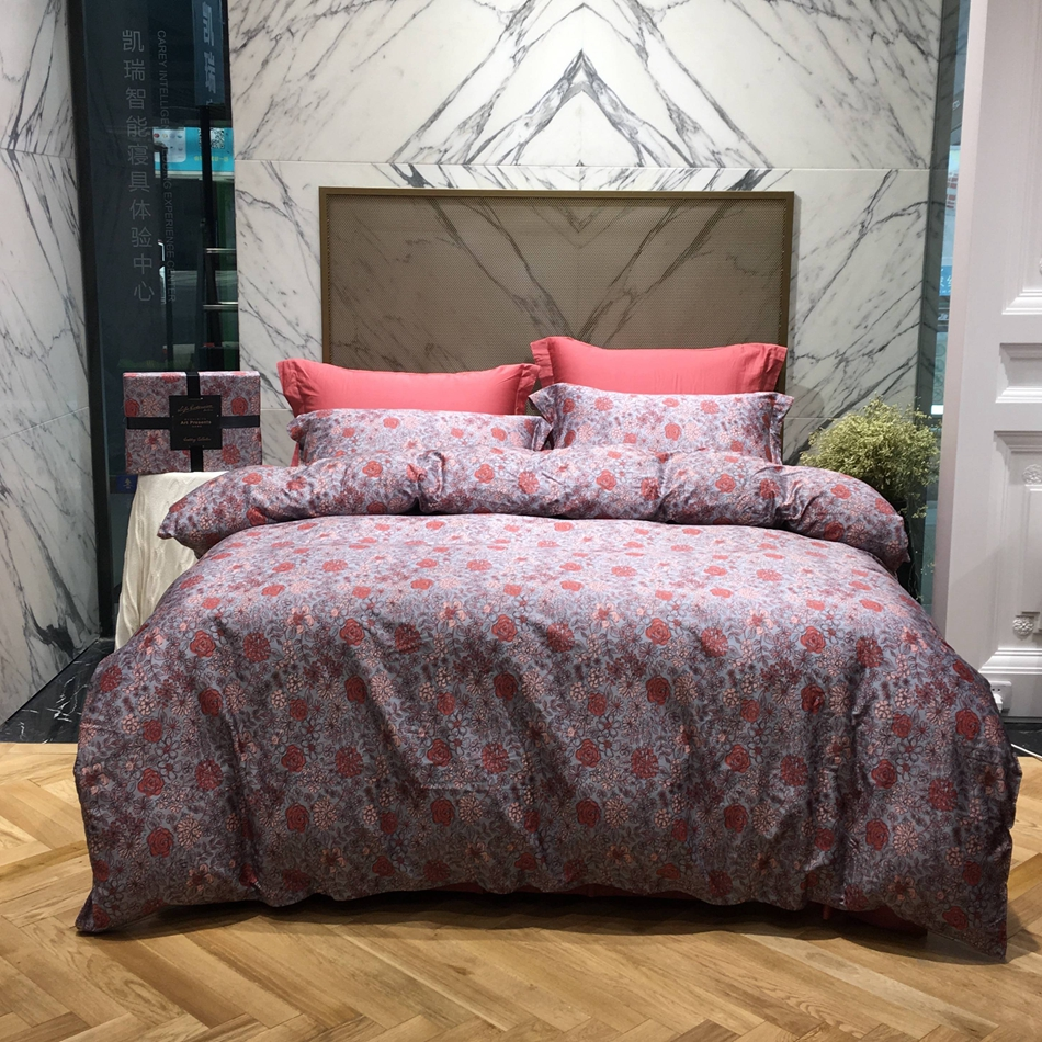online get cheap modern bed sheets aliexpresscom  alibaba group -  egyptian cotton bedding set king queen size soft flowers designerbedding pillowcases bed sheet duvet cover modern style