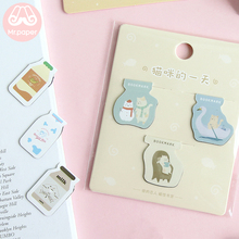Mr Paper 6 Parttens Kawaii Cartoon Kitty Claw Magnetic Bookmarks for Novelty Book Reading Maker Page Creative Gift Bookmarks mr paper 8 colors high quality pu leather bookmarks for novelty book reading maker page creative vintage style pu bookmarks