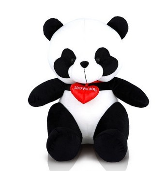 ФОТО Free shipping panda plush toy soft stuffed toy wholesale and retails love panda  gift toy 50cm