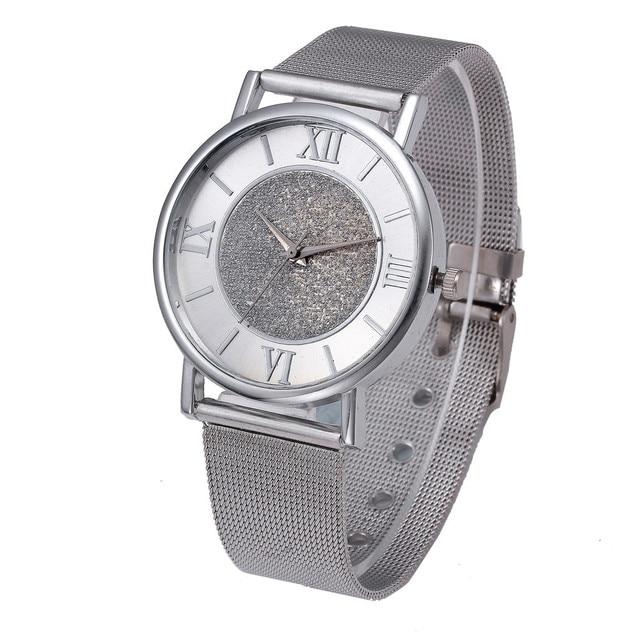 Luxury Bracelet Golden Watch Women Crystal Stainless Steel Quartz Analog Wrist Watch Stylish Female Casual Exquisite Clock A70