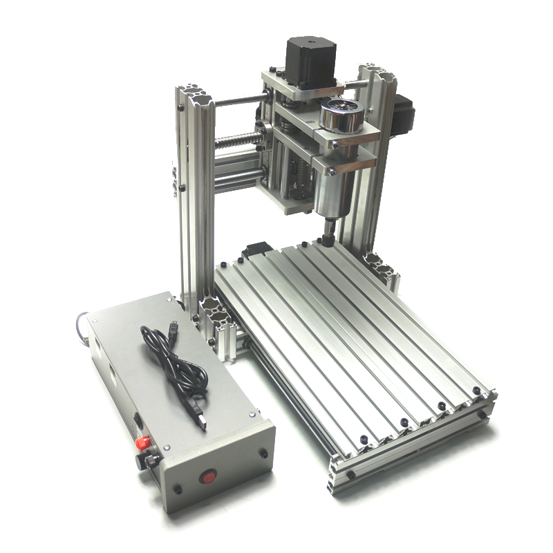 CNC 2030 3020 metal Diy mini CNC router 400W spindle Pcb drilling machine cnc dc48v 400w spindle motor 0 34nm air cooling er11 for diy pcb drilling new 1 year warranty free technical support
