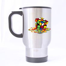 magic cube Custom Design Silver Travel Mug Sports Bottle Coffee Mugs Office Home Cup 14 OZ Two Sides Printed