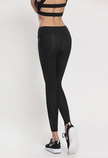 Black Mesh Workout Leggings