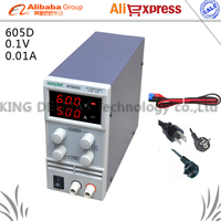 605D Adjustable High Precision Double LED Display Switch DC Power Supply Protection Function 0 60V 0