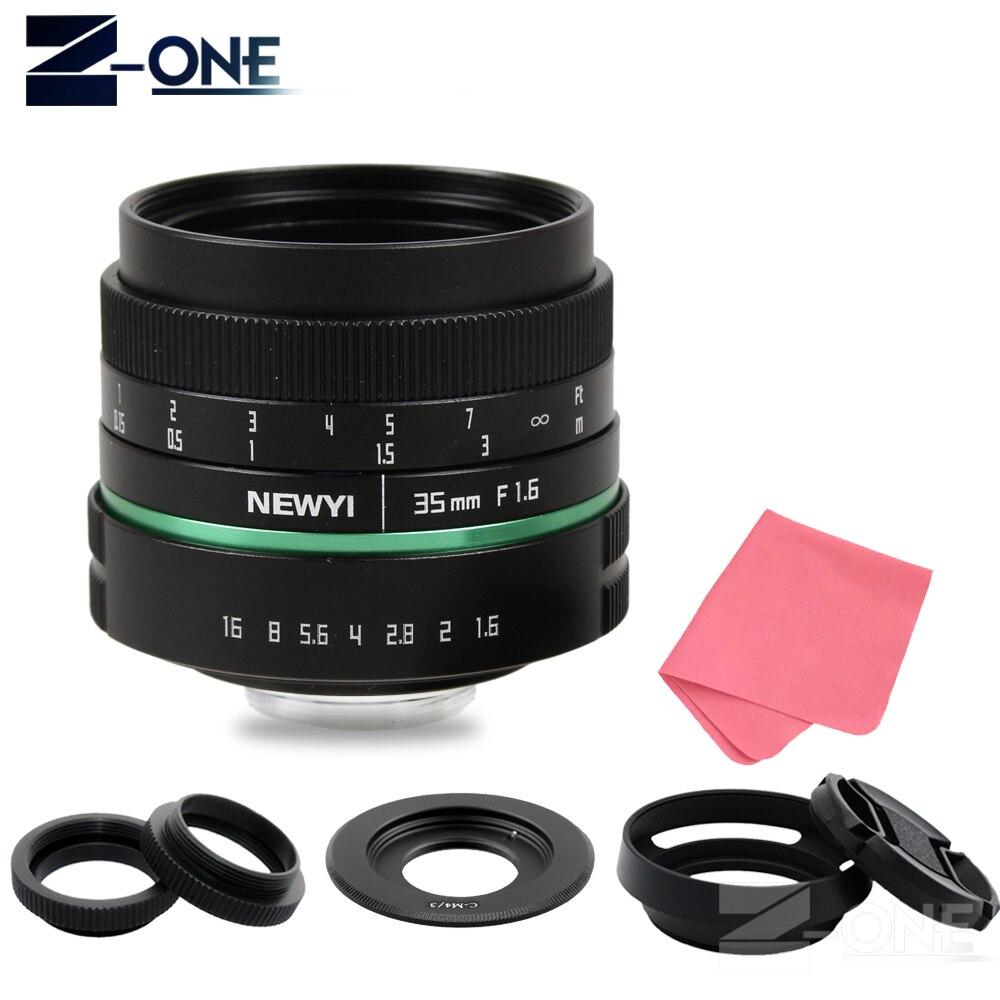 NEWYI 35mm f1.6 APS C CCTV TV Movie Lens+C Mount for Olympus Panasonic Micro 4/3 M4/3 G7 G10 GH3 G85 GX85 GX7 GF6 OM D