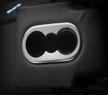 Lapetus Rear Seat Water Cup Holder Frame Cover Trim Fit For Volkswagen VW Tiguan 2016 - 2020 Matte / Carbon Fiber Look lapetus accessories fit for volkswagen vw tiguan mk2 2016 2019 window lift button switch cover trim matte carbon fiber style