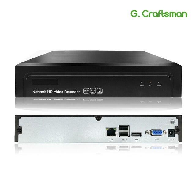 16ch 2MP H.265 NVR شبكة مسجل فيديو 1080P 1 HDD 24/7 تسجيل IP كاميرا Onvif 2.6 P2P نظام الأمن كام G.
